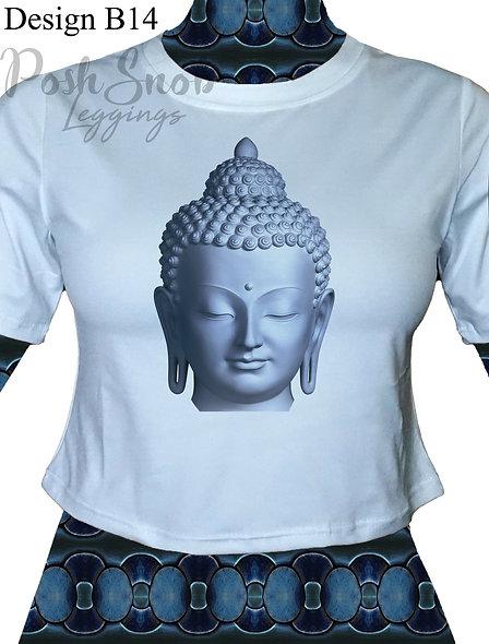"PoshSnob Zen Cropped Top ""Zen Buddha"" - Multiple print options"