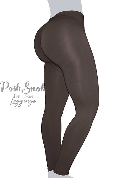 "PoshSnob ""Thin Skin"" Brown Leggings"
