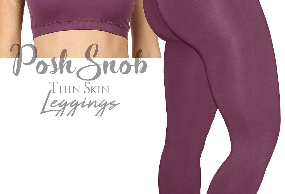 "PoshSnob PLUS  ""Thin Skin"" Eggplant Leggings Set"