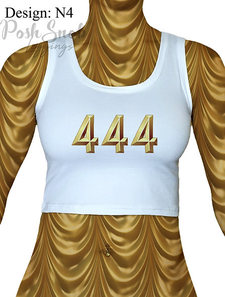 "PoshSnob Zen Cropped Top ""Angel Numbers"" - Multiple print options"