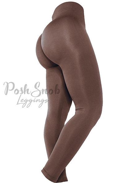 "PoshSnob ""Form Fit"" Fleece Chocolate Leggings"