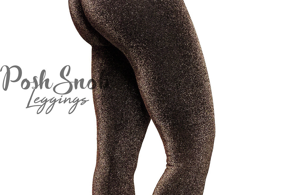 "PoshSnob ""Golden Sparkle"" Deep Scrunch Active Leggings"