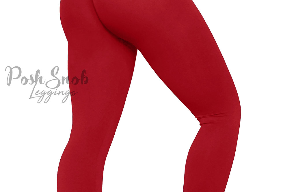 "PoshSnob ""Thin Skin"" Ruby Red Leggings"