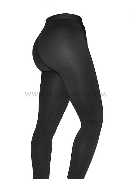 "PoshSnob Petites Mid-Rise ""Black Tie"" Cheeky Leggings"