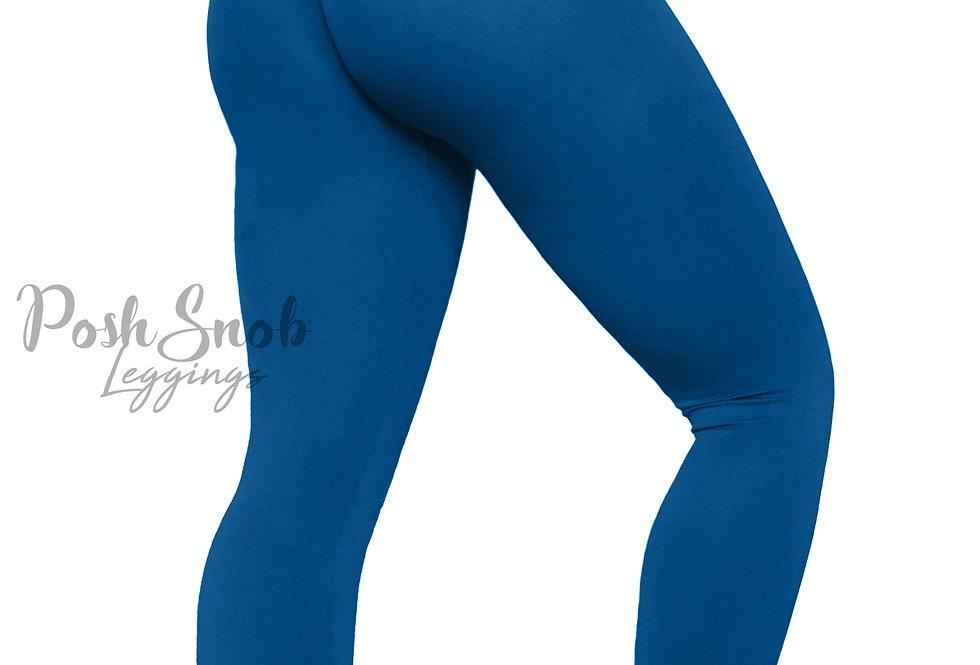 "PoshSnob ""Thin Skin"" Tropical Blue Leggings Long"