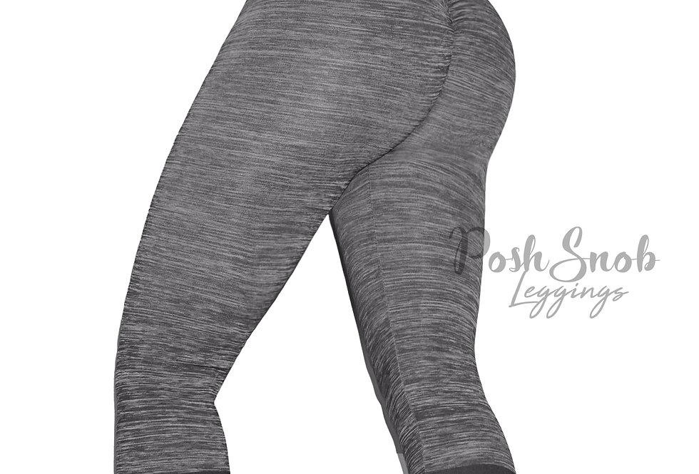 PoshSnob Heather Varsity Stripe Scrunch Active Leggings
