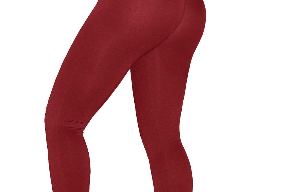 PoshSnob SPORT Cranberry Deep Scrunch Exercise Leggings