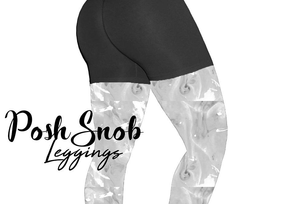 "PoshSnob ""Thin Skin"" Black Deep Scrunch Lounge Shorts"