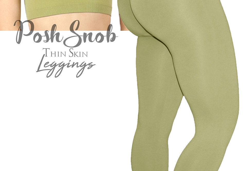 "PoshSnob ""Thin Skin"" Earth Green Leggings Set"