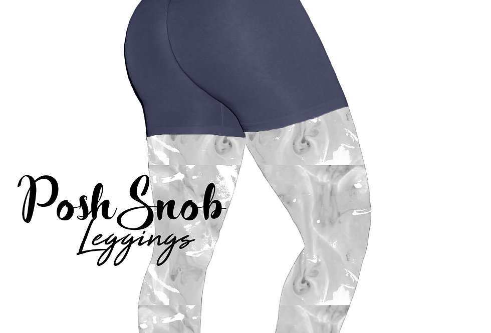 "PoshSnob ""Thin Skin"" Navy Deep Scrunch Lounge Shorts"