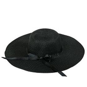 Sarah Hat: Black with Black Bow