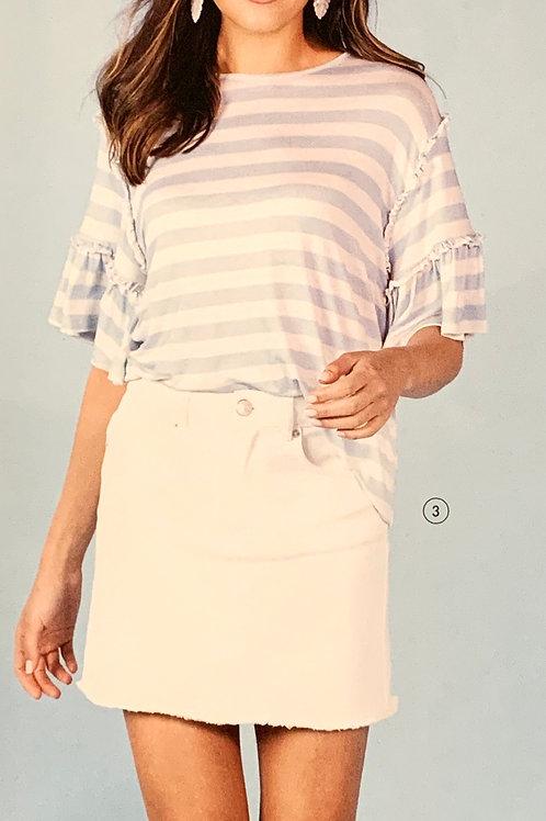 White Stevie Denim Skirt from Mudpie