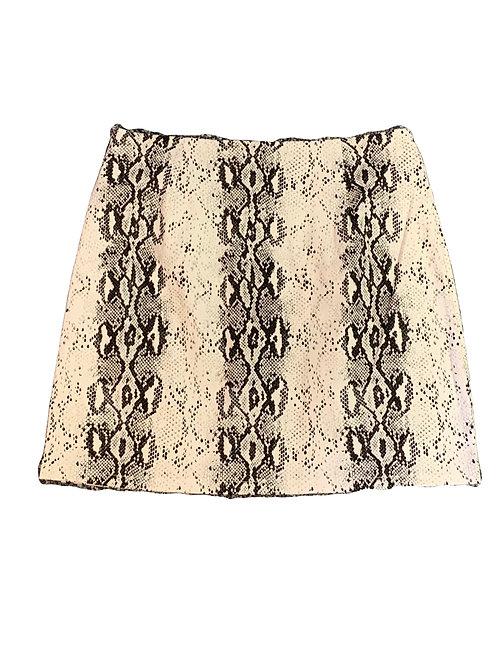 Snake Pattern Mini Skirt