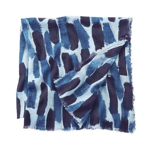 Slub Scarf Blue Block