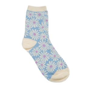 Daisy Sock Light Blue