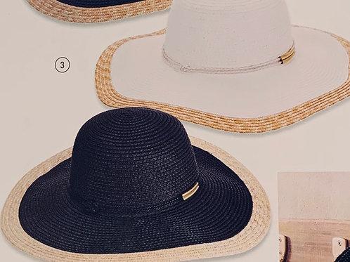Color Block Straw Sun Hat
