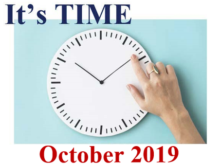 It's Time - October Newsletter