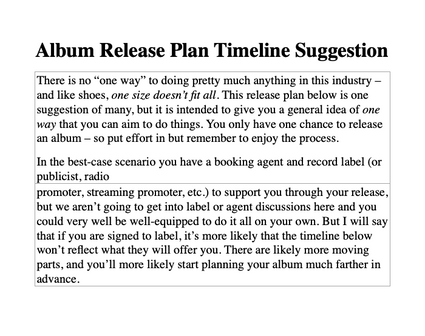 Album Timeline Suggestions
