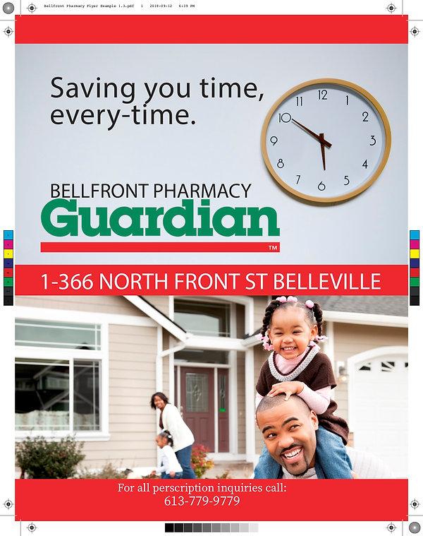 Bellfront Pharmacy Flyer Example 1.3 cop