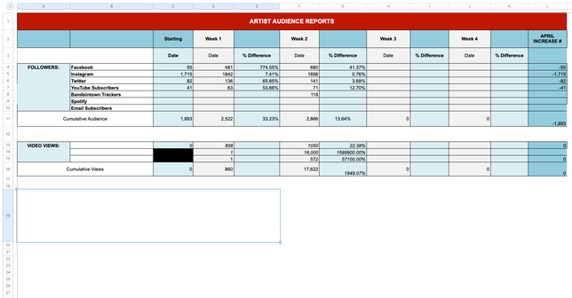 Example Audience Report