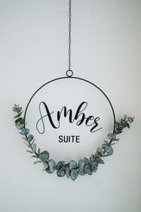 Amber suite sign