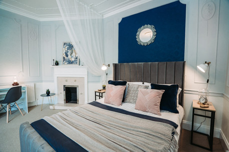 Blue suite bed
