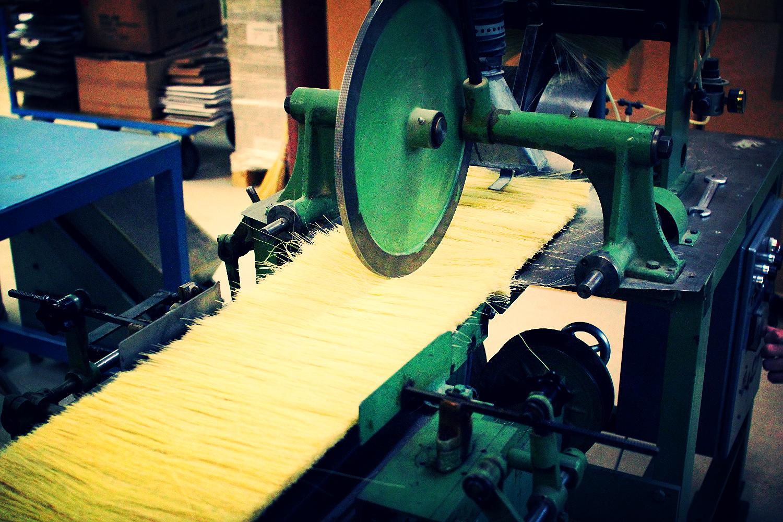 Herstellung Fiberrundbürsten