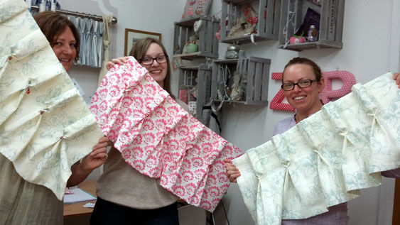 Sue Hazell - Sewing Tuition - Chipping Norton - Padded Pelmets or Hand Sewn Headings