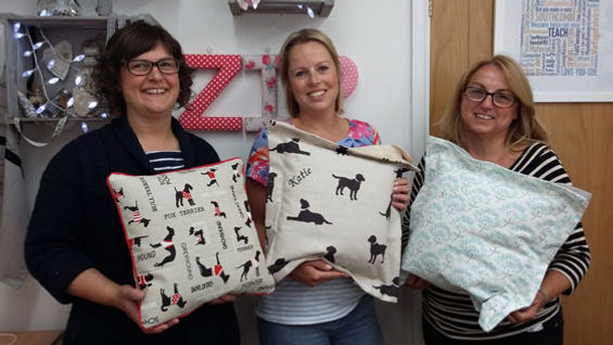 Sue Hazell - Sewing Tuition - Chipping Norton - Cushion Making