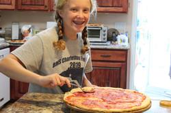 Camper making pizza!
