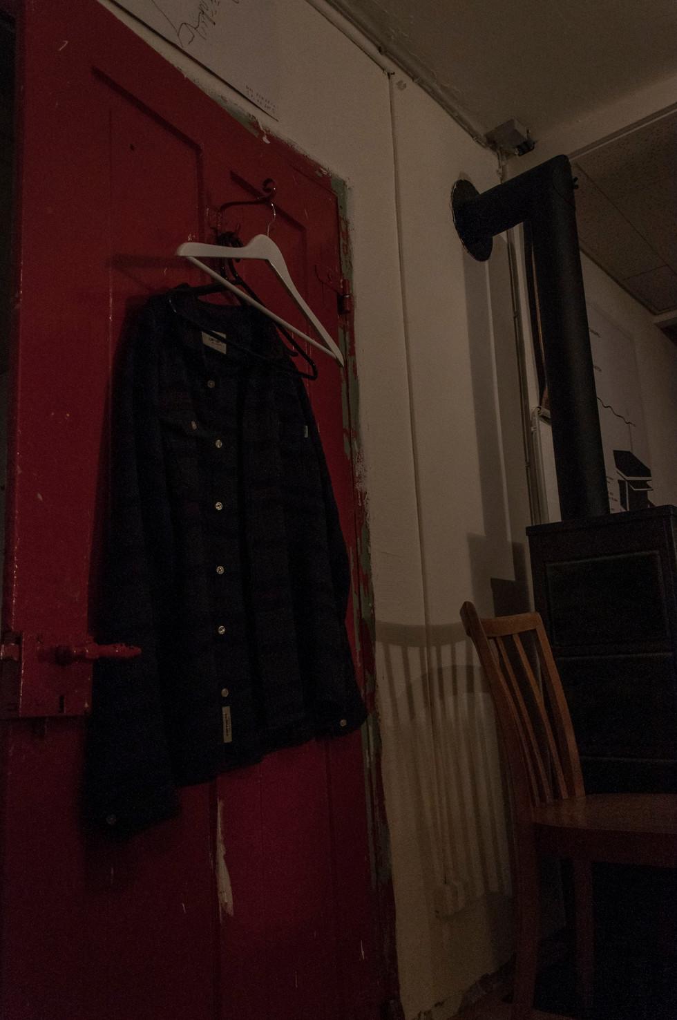 His shirt, his door, his room