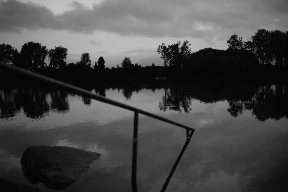Alter Rhein bei Dämmerung