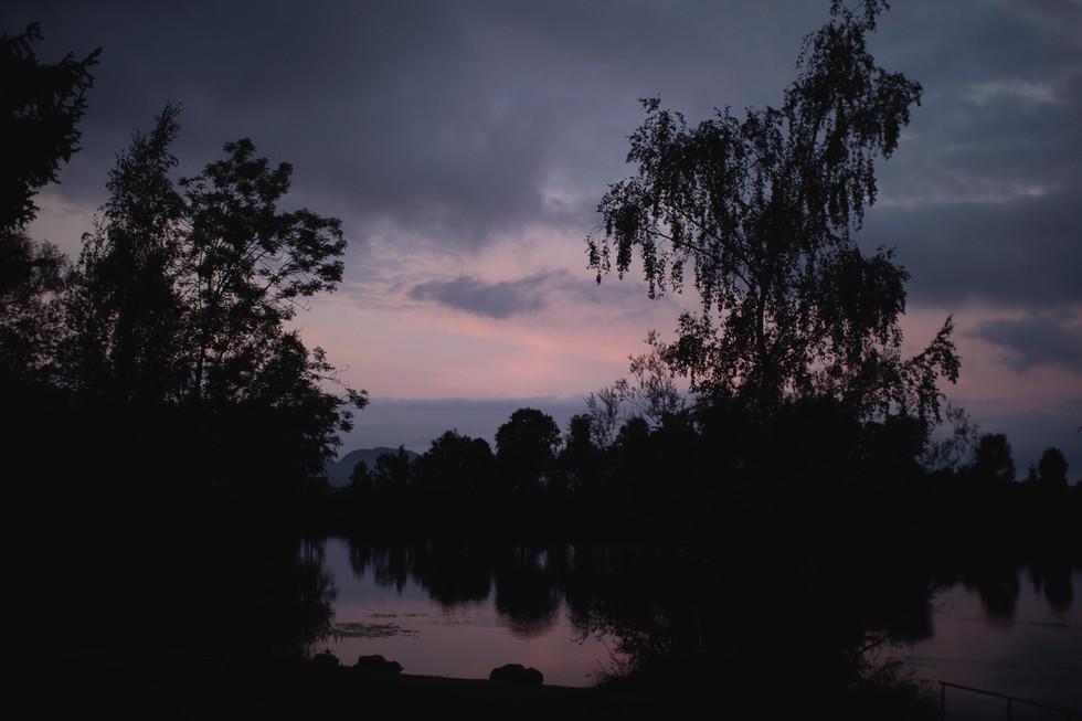 Alter Rhein bei Nacht
