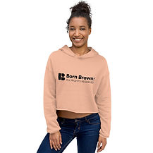 Born Brown Crop-top Hoodie.jpg