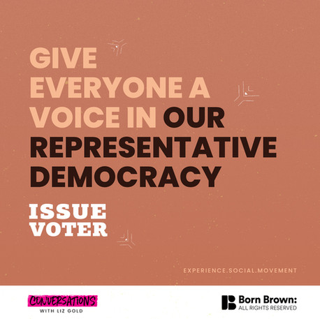 """Give Everyone A Voice In Our Representative Democracy"""