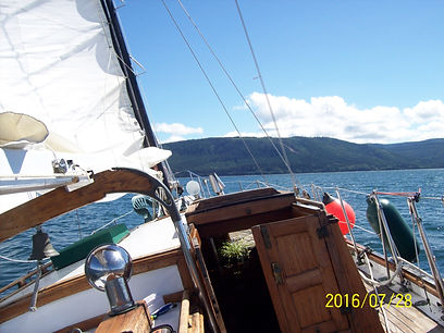 Silhouette sailing waters of Haida Gwaii, Queen Chalotte