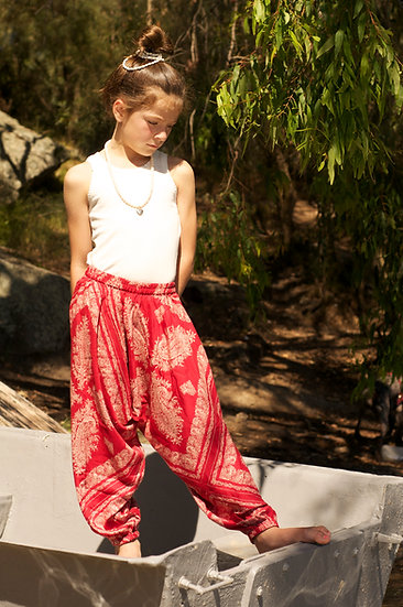 Paisley Red Harem Pants