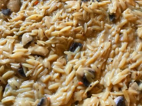 Creamy Garlic & Mushroom Orzo Pasta