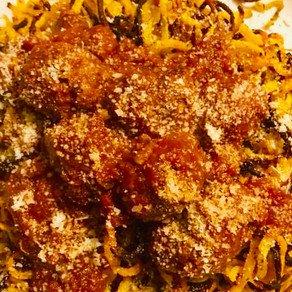 Italian Meatballs with Garlic & Herb Boodles (Butternut Squash Noodles)