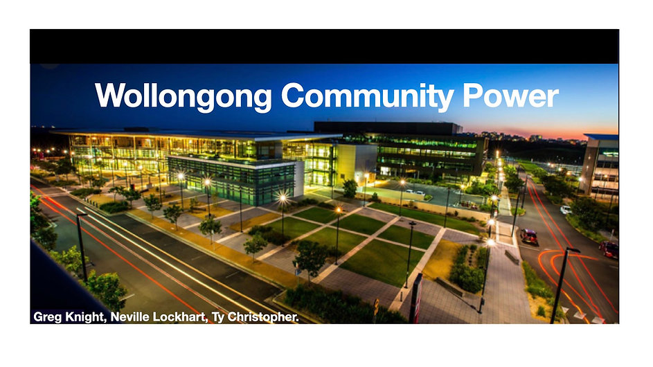 Wollongong Community Power V8BlackWhite