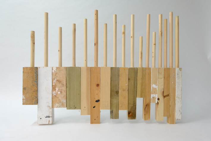 17 Lathed Planks of Wood