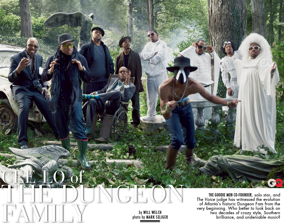 Ceelo+Dungeon Family for GQ Mag