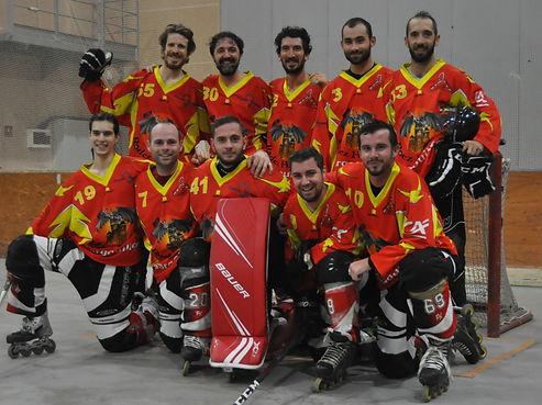 Les Gargouilles Rodez Roller Hockey équipe saison 2020/2021 Nationale 4