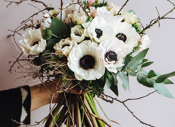 Bouquet Anemoni Bianchi