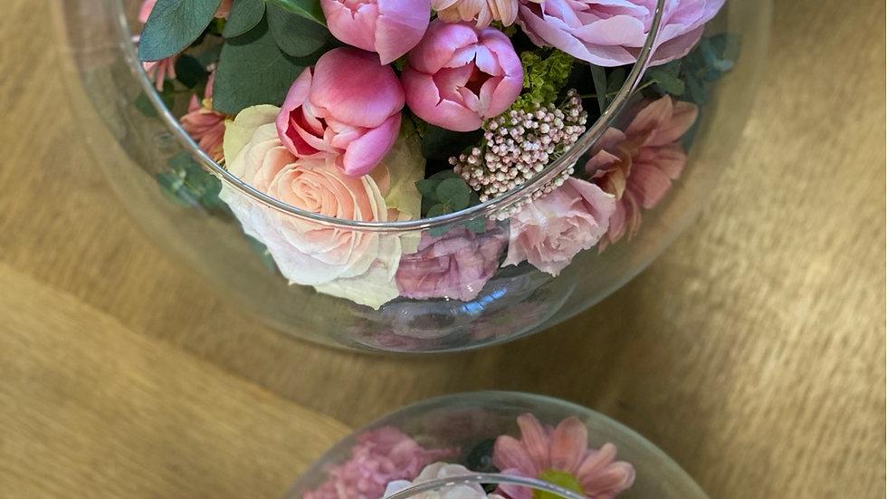 Fleur - composizione in boule di vetro