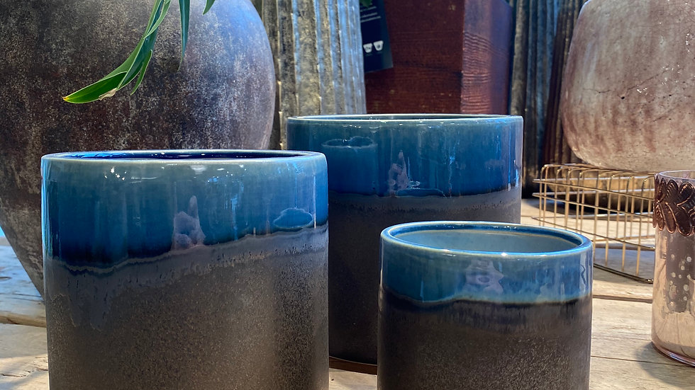 Vaso bordo blu Serax