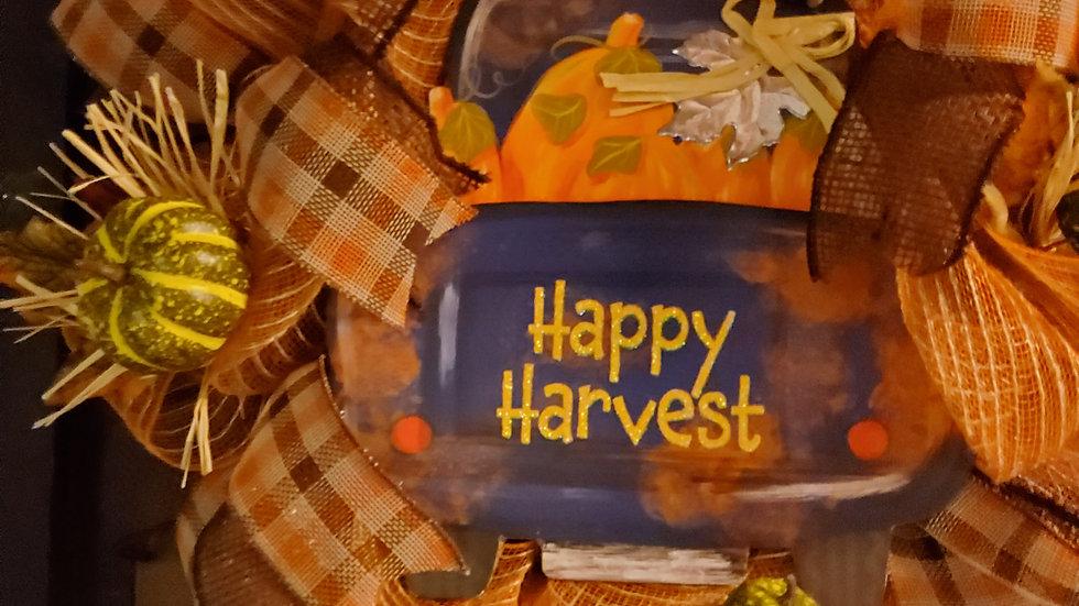 Happy Harvest Blue Truck