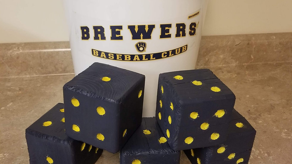 Milwaukee Brewers Large Dice Set