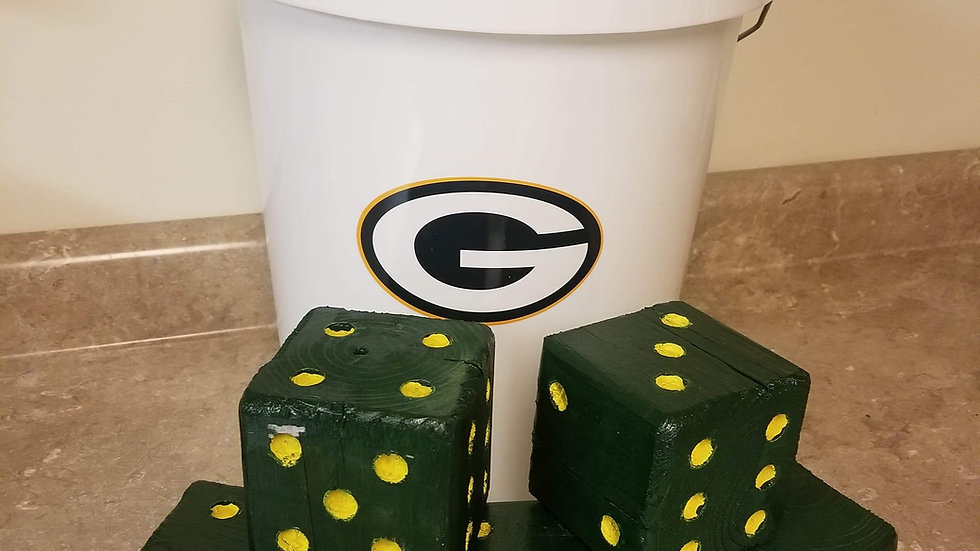 Green Bay Packers large Dice Set