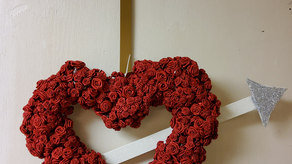 Rose heart with arrow